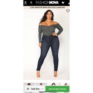 Fashion Nova Off The Shoulder Bodysuit